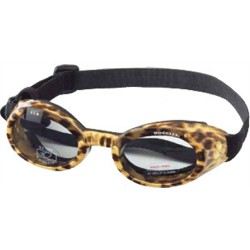 Leopard Print Frame ILS Doggles with Light Smoke Lens